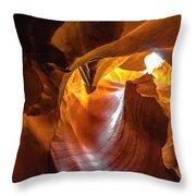 Upper Antelope Canyon Beauty Natural Throw Pillow