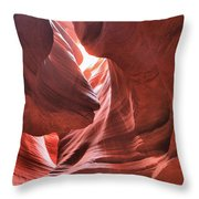 Upper Antelope Lights Throw Pillow