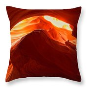 Upper Antelope Sunlit Layers Throw Pillow