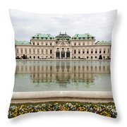 Upper Belvedere And Its Reflection  Throw Pillow