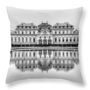 Upper Belvedere Palace, Vienna Throw Pillow
