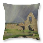 Upper Boddam Castle Throw Pillow