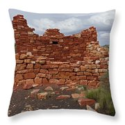 Upper Box Canyon Ruin Throw Pillow