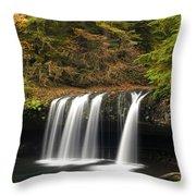 Upper Butte Creek Falls 2 Throw Pillow