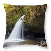 Upper Butte Creek Falls Closeup Throw Pillow