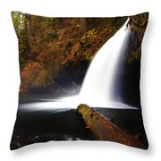 Upper Butte Creek Falls Throw Pillow