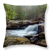 Upper Copeland Falls Throw Pillow