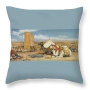 Upper Egypt Throw Pillow