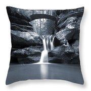 Upper Falls Hocking Hills Ohio Throw Pillow