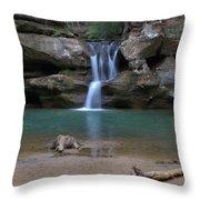 Upper Falls In Hocking Hills Throw Pillow