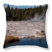Upper Geyser Basin Throw Pillow