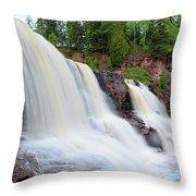 Upper Gooseberry Falls Throw Pillow