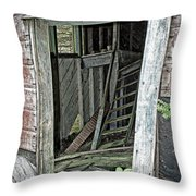 Upper Hoist Doorway Throw Pillow