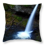 Upper Horsetail - Pony Tail Falls Throw Pillow