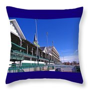 Upper Level Viewing Stands At Churchill Downs Throw Pillow
