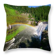 Upper Mesa Falls Throw Pillow