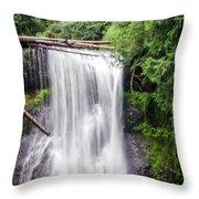 Upper North Falls 3 Throw Pillow