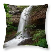 Upper Piney Falls Throw Pillow