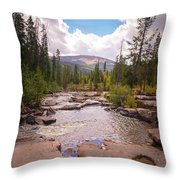 Upper Provo, Early Fall Throw Pillow