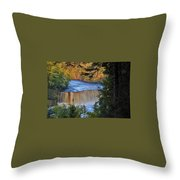 Upper Tahquamenon Falls In October Throw Pillow