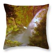Upper Union Creek Falls  Throw Pillow