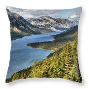 Upper Waterton Lake Valley Throw Pillow