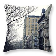 Upper West Side Winter Throw Pillow