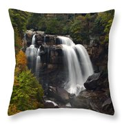 Upper Whitewater Falls - Nc Throw Pillow