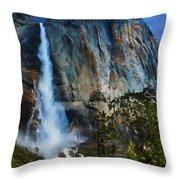 Upper Yosemite Falls Throw Pillow