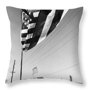 Upraised Flag Support Mlk Day March Tucson Arizona 1991 Throw Pillow