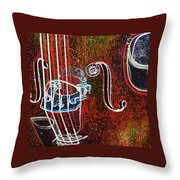 Upright Bass Close Up Throw Pillow