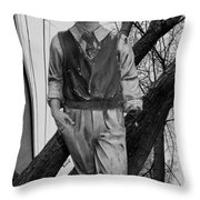 Upright In An Askew World Throw Pillow