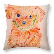 Upright Puppy Throw Pillow