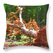 Uprooted Trees Throw Pillow