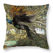 Uprooting A Banyan Tree Throw Pillow