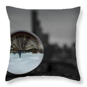 Upside Down Chicago Throw Pillow