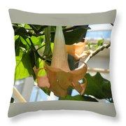 Upside Down Flower Throw Pillow