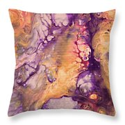 Upside Down Jellyfish And The Chicken Close Up Throw Pillow