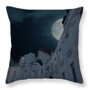 Upside Down White House At Night Throw Pillow