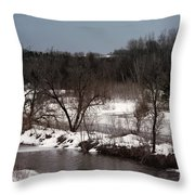 Upstream Throw Pillow