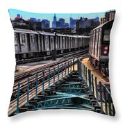 Uptown And Downtown Throw Pillow by June Marie Sobrito
