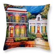 Uptown In The Moonlight Throw Pillow