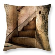 Uptown Stairs Throw Pillow