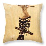 Upupa Throw Pillow by Ilaria Andreucci