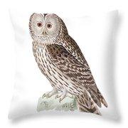 Ural Owl Throw Pillow