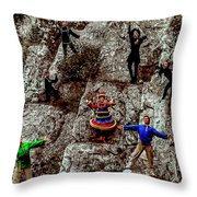 Ural's Folk Group Throw Pillow