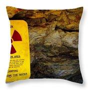 Uranium Mine In Capitol Reef Np Throw Pillow