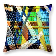 Urban Abstract 123 Throw Pillow