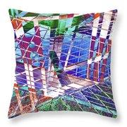 Urban Abstract 411 Throw Pillow