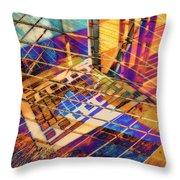 Urban Abstract 423 Throw Pillow